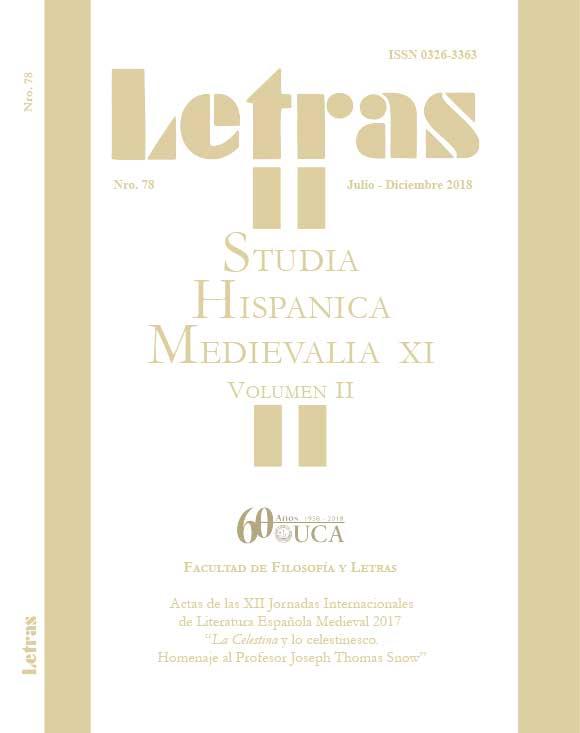 Studia Hispanica Medievalia XI. Volumen II. Julio-diciembre 2018